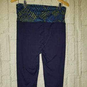 Fabletics Pants - Fabletics Salar Capri Fold Over Leggings Blue S8 M